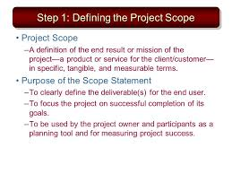 Chapter 4 Defining The Project Ppt Download