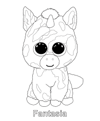 Coloring Pages Beannie Boog Picture Unicorn Pixi Beanie Pictures