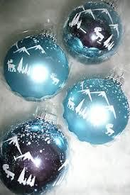 Details Zu Christbaumkugeln Weihnachtskugel Christbaumschmuck Glas Lauscha Blau Weiß Elch
