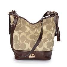 Coach Legacy Duffle In Printed Signature Medium Khaki Crossbody Bags ACF