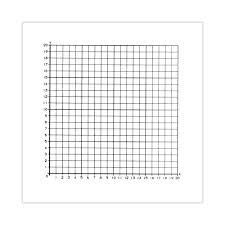 Graph Paper Stickers 1st Quadrant Numbered 0 To 20 Roll Of 500