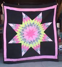 Native American Quilt   eBay & NEW NATIVE AMERICAN STAR QUILT 80X89 QUEEN SIZED BLACK/PINK FREE SHIPPING Adamdwight.com