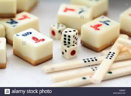 Mahjong Tiles And Dice Stock Photos & Mahjong Tiles And Dice Stock ...