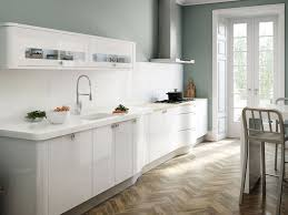 kitchen design white cabinets white appliances. Kitchen:Magnificent Modern White Kitchen Design With Appliances And Gloss Cabinets Plus Metal