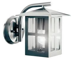Vermont Stainless Steel Mains Powered External Wall Lantern | Departments |  DIY at B&Q