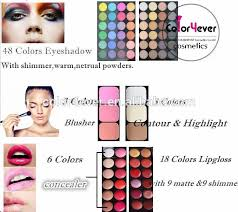 top quality brand name waterproof professional makeup kit in alibaba china cosmetics make your own