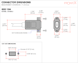 frontx ieee 1394 firewire cable connect to motherboard diy panel cut out connector dimensions