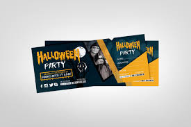 Ticket Design Halloween Party Event Ticket Design Template Graphic Templates
