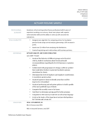 Actuary Resume Samples Tips And Templates Online Resume