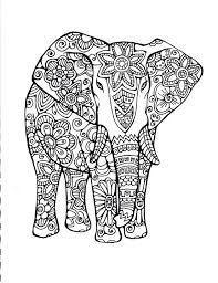 Indian Elephant Coloring Pages Printable Color Page Animals Porongurup