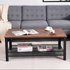 This lola coffee table with storage by riley ave. Metal Frame Wood Coffee Table Console Table With Storage Shelf Coffee Tables Accent Tables Tables Furniture