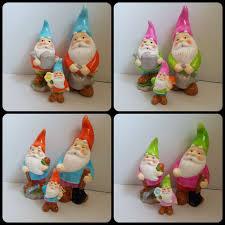 glazed shiny garden gnomes novelty ornament decoration colourful statues gnome