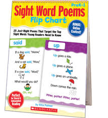 Counting Poems Flip Chart Sight Word Poems Flip Chart By Rita Palmer