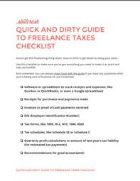 Free Freelancer Quick And Dirty Guide To Freelance Taxes