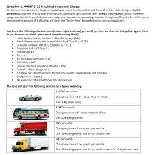 Aashto 93 Flexible Pavement Design Question 1 Aashto 93 Empirical Pavement Design Fo