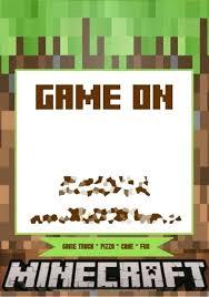 Minecraft Invitations Invitation Cards