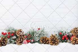Christmas Tree Cone With Lights Christmas Snow Scene Christmas Tree Branches With Cones And