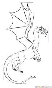 how to draw a realistic dragon step by step drawing tutorials for kids and beginners