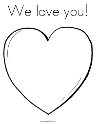 Heart Coloring Page Small Heart Coloring Pages Love Pink Page To
