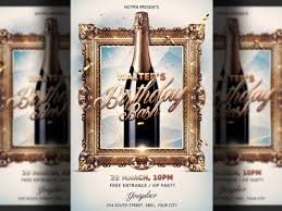 anniversary poster template birthday party flyer template by hotpin dribbble dribbble