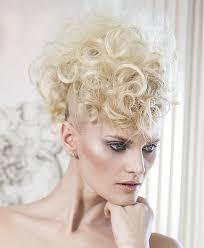 Short Pixie Hairstyle With Curls And Shaved Sides Hairstyles