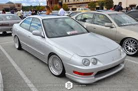 acura integra 4 door slammed. acura integra on klutch wheels sl1 silver 15x85 4 door slammed