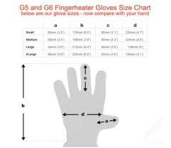 Five Gloves Size Chart G6 Fingerheater Battery Heated Gloves