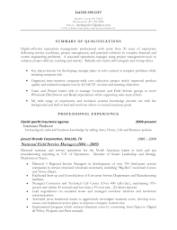 Resume Summary Statement Operations Resume For Study