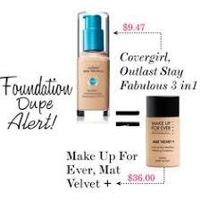 foundation dupe alert for makeup forever matte velvet cover outlast