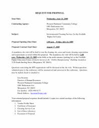 Cleaning Proposal Template Pdf Awesome Cleaning Proposal