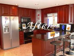 Cabinet Resurfacing Kitchen Cabinets Refacing Before And After Home