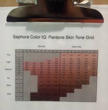 Sephora Color Iq Pantone Skin Tone Grid Sephora Sephora