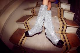chanel glitter boots. chanel boots mania glitter t