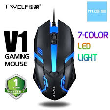 <b>T</b>-<b>WOLF</b> V1/V5/V7/V8/<b>V9</b>/<b>V11</b> (7 LED RGB ) WIRED <b>GAMING</b> MOUSE