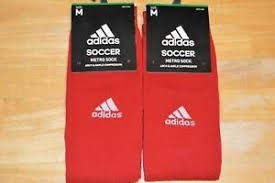 Adidas Metro Soccer Socks Size Chart Details About Adidas Metro Sock Soccer Arch Ankle Compression Socks 2 Pair Red Size Medium