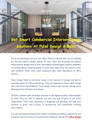 Design Build Firms Pulsedesignbuild Commercial Interior Design