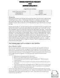 project essay senior project essay