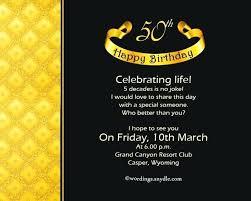 50th Birthday Invitation Ideas Diy Party Invitations Template