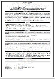 Resume Format For Freshers Resume Format For Be Freshers