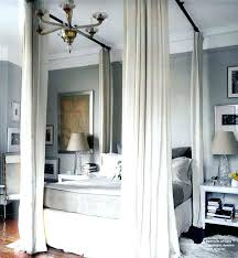 Canopy Bed Drapes Curtains Canopy Bed Drape Vibrant Purple Canopy ...