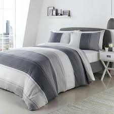 gray sheet set grey gray and white striped sheet set