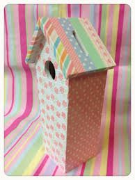 Decorated Money Box Wooden hand decorated bird house money box decorated with a coat 15