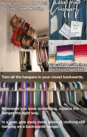 diy closet organizing idea 1