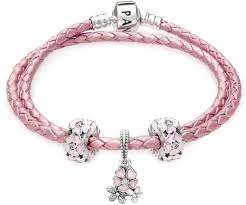 pandora pink poetic blooms complete gift leather bracelet women s jewelry amzn to 2ljp5ih