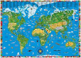 kids world map laminated buy kids world map  mapworld