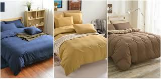 King Bedroom Bedding Sets Hot Solid Color Bedding Sets Super King Queen Sizeduvet Quilt