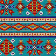 Southwest Pattern Stunning Dancing Bear Indian Trader Beads Bells And Buckskin