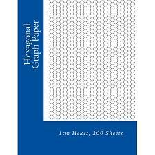 Hexagonal Graph Paper 1cm Hexes 200 Sheets Paperback