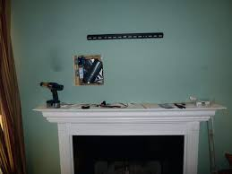 mounting lcd tv brick fireplace into stone install above gas opinions home theater forum systems