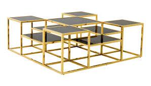 eichholtz smythson coffee table gold frame black glass top